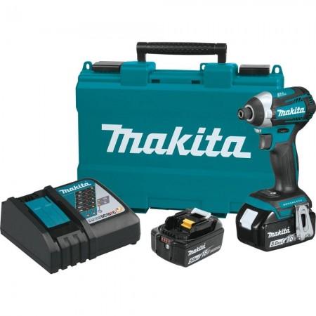 Makita XDT14T 18V LXT Brushless Quick-Shift Mode 3-Speed Impact Driver Kit (5.0 Ah)
