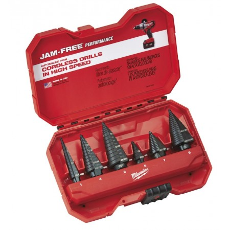 6-Piece Step Drill Bit Set
