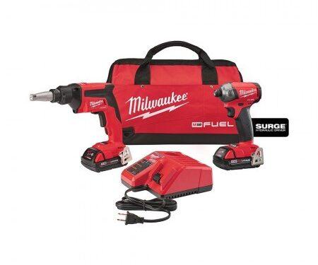 Milwaukee screw gun surge hydraulic driver combo kit (2 Ah)