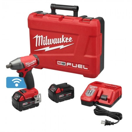 Milwaukee impact wrench w/ compact batteries with one-key kit
