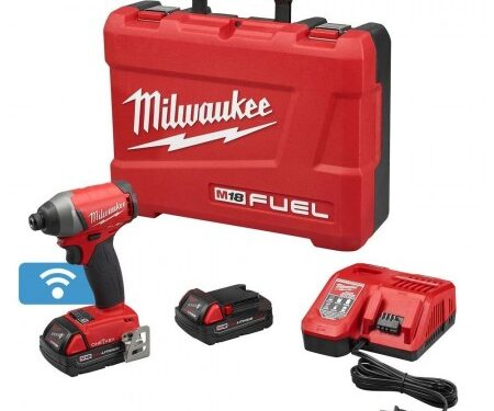 Milwaukee impact driver w/ one key kit & compact batteries