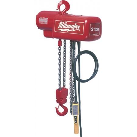 Milwaukee electric chain hoist 15ft