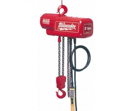 Milwaukee electric chain hoist 20ft