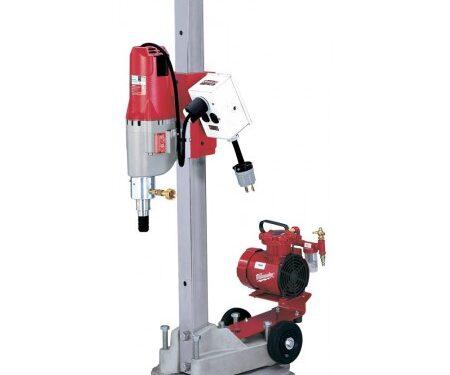 Milwaukee 4115-22 Diamond Coring Rig with Small Base Stand, Vac-U-Rig Kit, Meter Box and Diamond Coring Motor