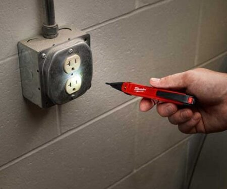 Milwaukee tool testing electric board